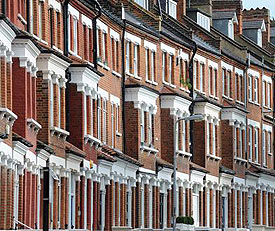Many terraced houses in London have house extensions